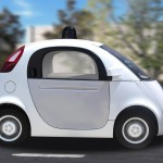 Autonomous self-driving driverless vehicle on the road