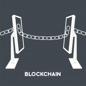 blockchain computer screen chain