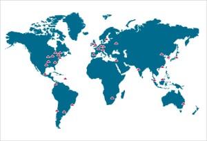 Figure 2 : les implantations de SCOR SE -  la maîtrise du risque par la diversification géographique