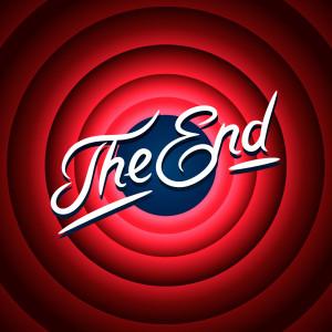 Movie ending screen background, vector Eps10 illustration.