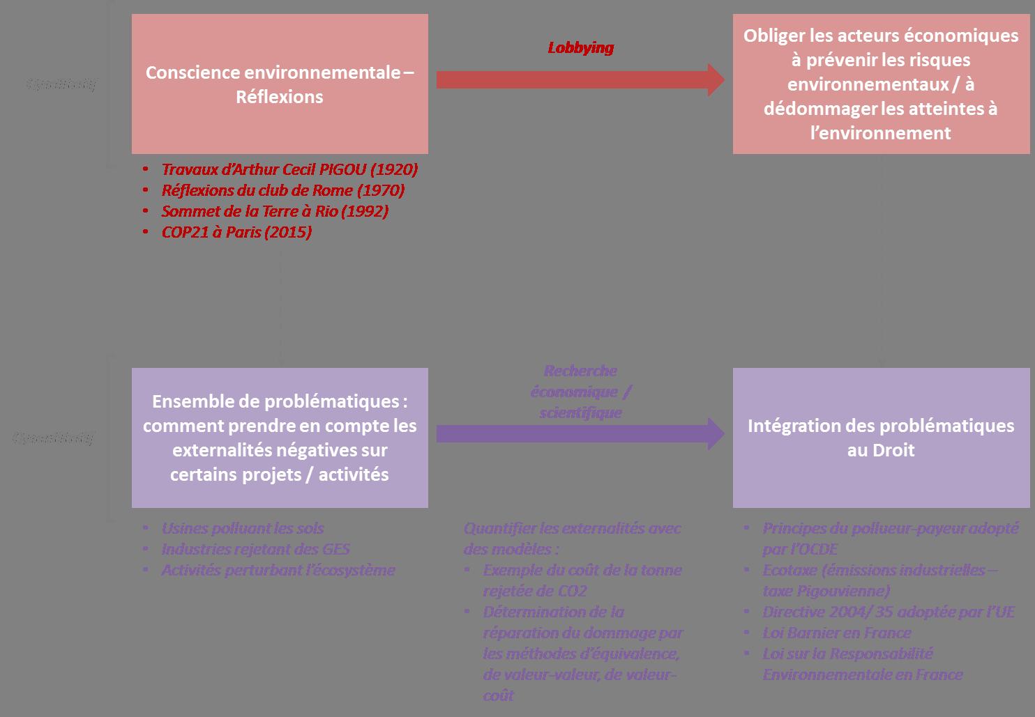 Processus d'intégration au Droit des problématiques environnementales
